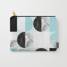 Mid Modern Moon and Sun Geometric Pattern - blue Carry-All Pouch