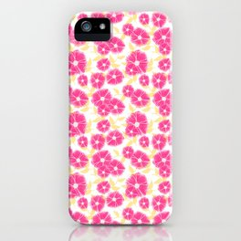 12 Sketched Mini Flowers iPhone Case