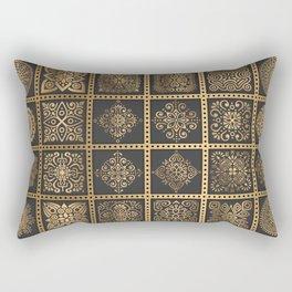 Copper Mandala Quilt Rectangular Pillow