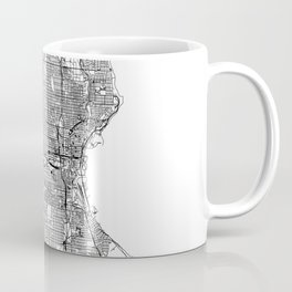 Milwaukee White Map Coffee Mug