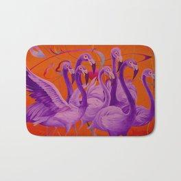 Purple Flamingo Bath Mat