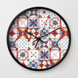 Tile pattern Wall Clock