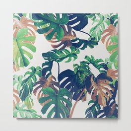 tropical wild green Metal Print