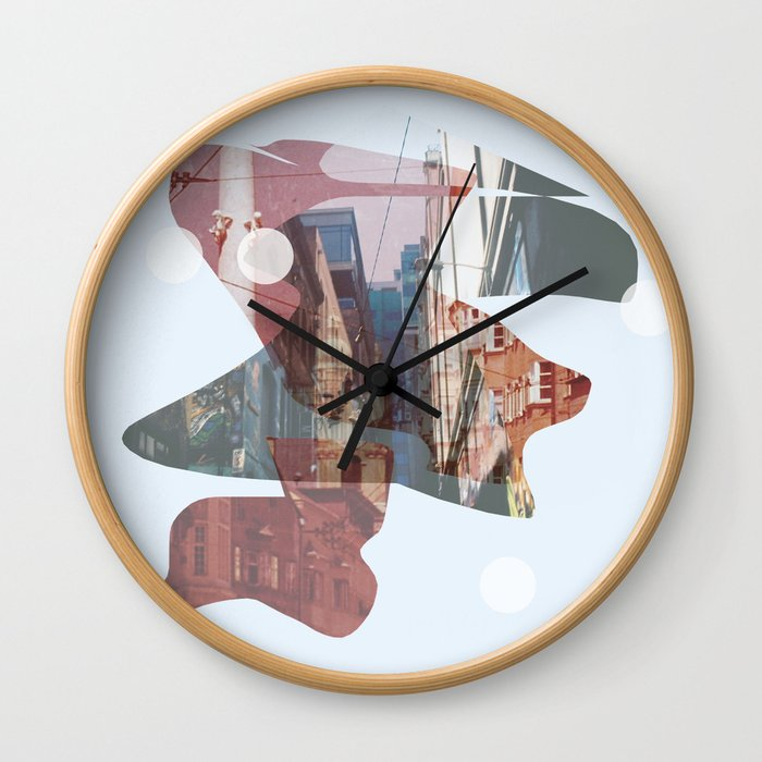 A Tale of Two Towns Wall Clock