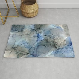 Rippling Water: Original Abstract Alcohol Ink Painting Rug