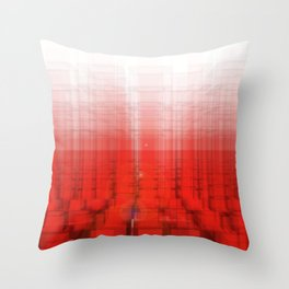 Abstract Red Structure Throw Pillow