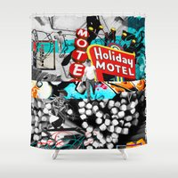 holiday Shower Curtains featuring Holiday by Meredith Pahoulis