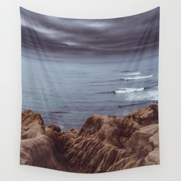 Sunset Cliffs Storm Wall Tapestry
