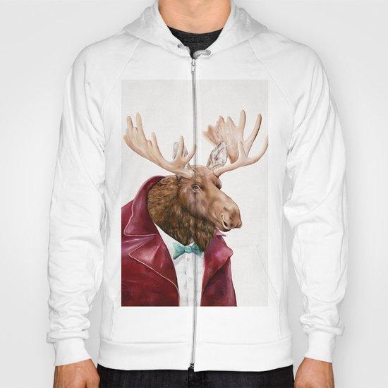 Moose in Maroon Hoody