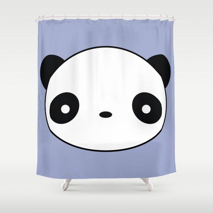 Kawaii And Cute Panda Shower Curtain