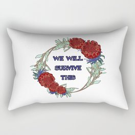 We Will Survive This - Australian Native Floral Wreath Rectangular Pillow