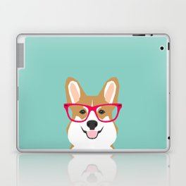 Teagan Glasses Corgi cute puppy welsh corgi gifts for dog lovers and pet owners love corgi puppies Laptop & iPad Skin