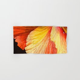 Exotic Fine Art Macro Flower in Chic Red Hand & Bath Towel