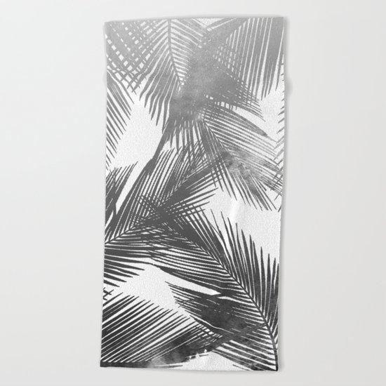 Palms BW Beach Towel