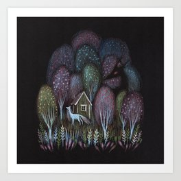 Pastel Woods After Dark Art Print
