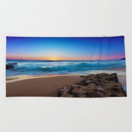 A Day At The Beach Beach Towel