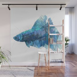 Blue Betta Wall Mural