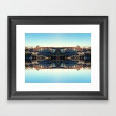 The Mirror City Framed Art Print