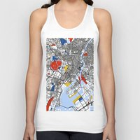 tokyo Tank Tops featuring Tokyo by Mondrian Maps