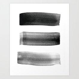 Three Brushes Art Print