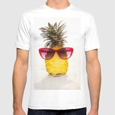 cool pineapple Mens Fitted Tee MEDIUM White
