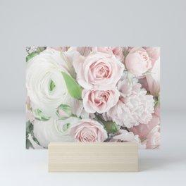 Pastel Pink Flowers Mini Art Print