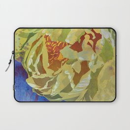 Pale Yellow Peony Flower Art | Watercolor Floral Illustration Laptop Sleeve
