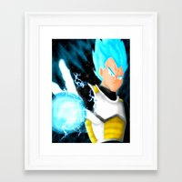 vegeta Framed Art Prints featuring SSGSS Vegeta by AmaterasuVG