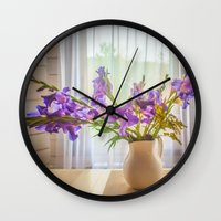 iris Wall Clocks featuring Iris by Svetlana Korneliuk