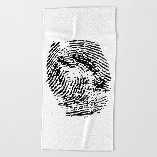 Fingerprint Beach Towel