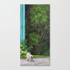 What the Cat Sees By the Hot Glass Studio Hydrangea Canvas Print