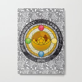 Sailor Moon - Crystal Transformation Brooch Metal Print