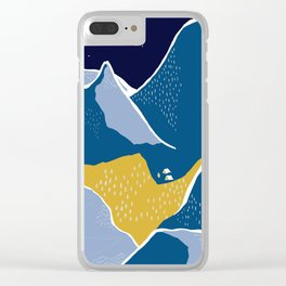 Say goodnight to the mountains Clear iPhone Case