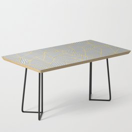 Ab Outline Gold and Grey Coffee Table