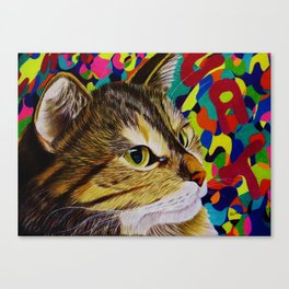 groovy cat Canvas Print