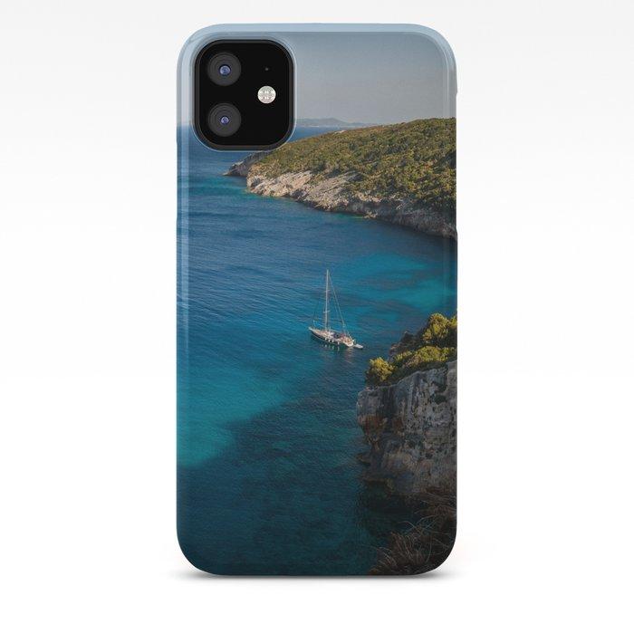 Yacht in ocean iphone 11 case