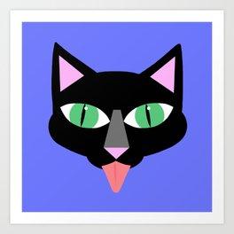 Norman Reedus's black cat Art Print