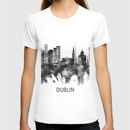 Dublin Republic of Ireland Skyline BW T-shirt