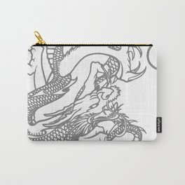 Grey Dragon and Pearl Carry-All Pouch