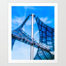 Roof of the olympic center Munich Art Print