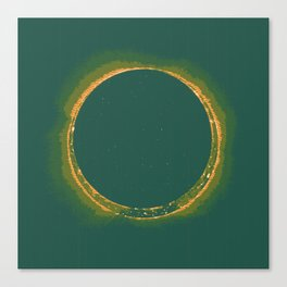 Solar Eclipse by Hinode Observes, NASA 4 Canvas Print
