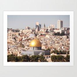 Temple Mount, Old City of Jerusalem, Israel Art Print