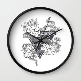 Limitless Possibilities Wall Clock