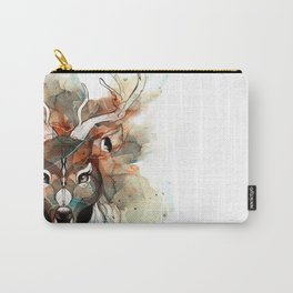 Deer- color brown Carry-All Pouch