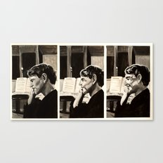 Phoning Mum Canvas Print