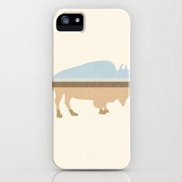 Buffalo on the Plain iPhone Case