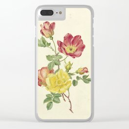 Antoinette Luden - Twig wild roses Clear iPhone Case