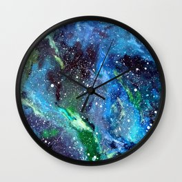 Galaxy (blue/green) Wall Clock