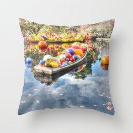 Floating Glass Throw Pillow