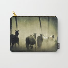 Herd of Horses Running Down a Dusty Path Carry-All Pouch